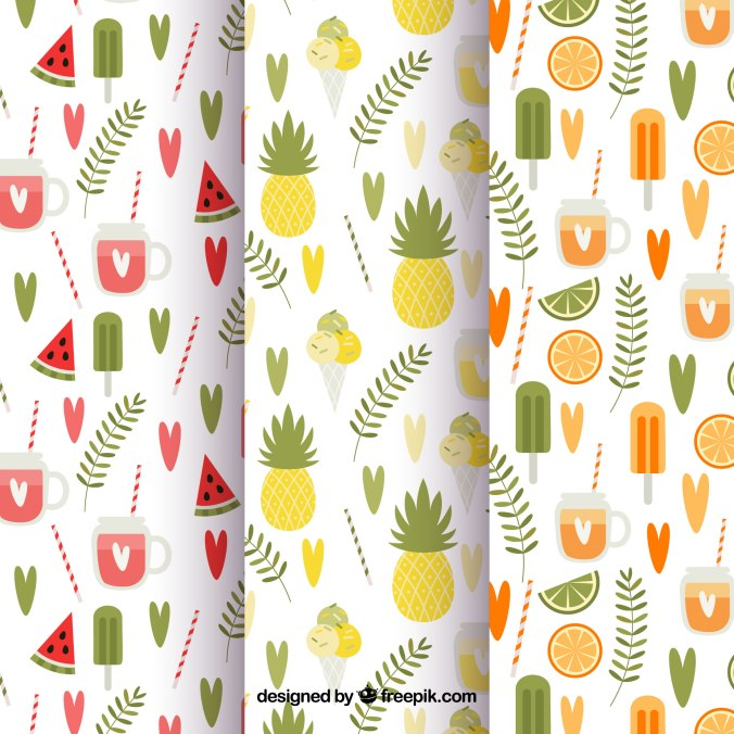 http://www.freepik.com/free-vector/set-of-three-summer-patterns-in-vintage-style_1133101.htm