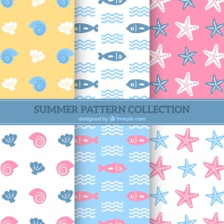 http://www.freepik.com/free-vector/sealife-pattern-background-collection_1137933.htm#term=free%20summer%20patterns&page=1&position=21