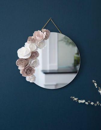 fleurs en carton