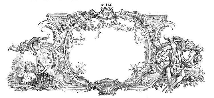 dessins-imprimer-shabby-cadre-étiquette-dessin-toile-Jouy