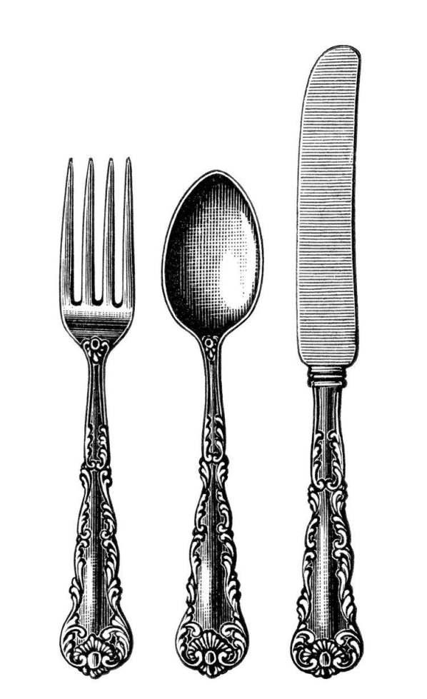 dessins-imprimer-style-shabby-fourchette-cuillère-couteau