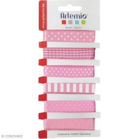 rubans-artemio-lollipop-rose-1-cm-x-1-m-6-pcs-l